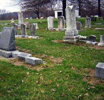 Cemetary and unmarked grave