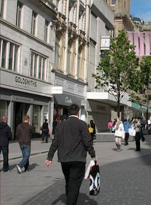 Shoppers in England