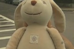stuffed animal bunny saved by MBTA workers
