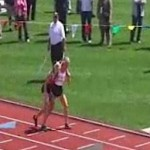 track teen helps competitor