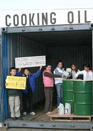 Cooking oil recycling station kids project-TGIF