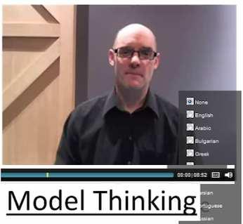 """Coursera media """"Model Thinking"""""""