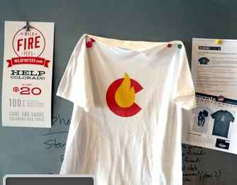 Fire Relief Tee Colorado - NBC video