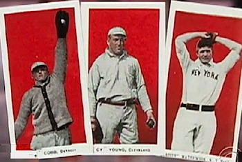Mint baseball cards from 1910