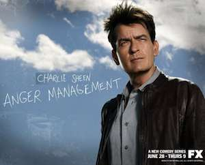 Charlie Sheen's Anger Management FX promo