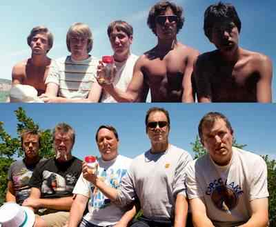 friends age in same photo 30 years apart