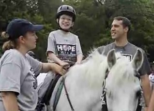 horse riding with NY Yankees