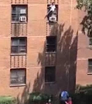 ledge accident 3-story bldg