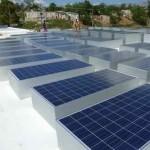 Solar panels at Mirebalais' new hospital (Photo: PIH)