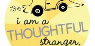 sticker Thoughtful Stranger-Guerilla Good