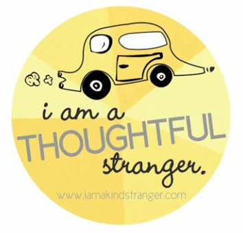 sticker Thoughtful Stranger-Guerilla Good