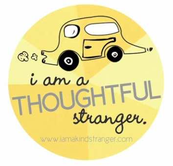 Thoughtful Stranger sticker - Guerilla Good