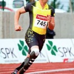 track star and amputee, Oscar Pistorius