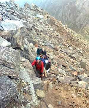 Climbing rockey terrain - Chris ORiley