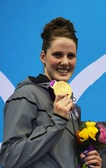 Missy Franklin Gold Medal Ceremony London