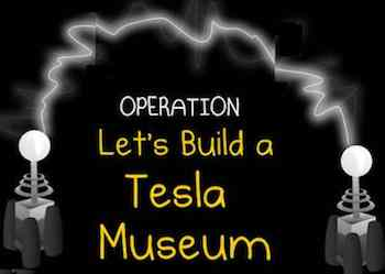 Tesla Museum graphic photoshopped