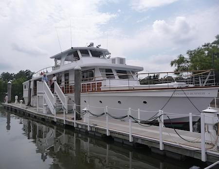 Yacht small docked