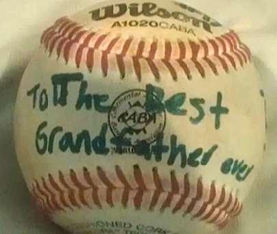 baseball for grandfather- family photo