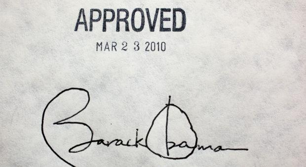 Obama signature on AHA health bill