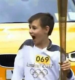 torchbearer Kieran Maxwell, video screenshot