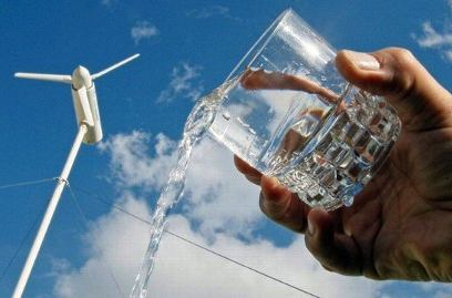 water from wind turbine - EOLE company photo