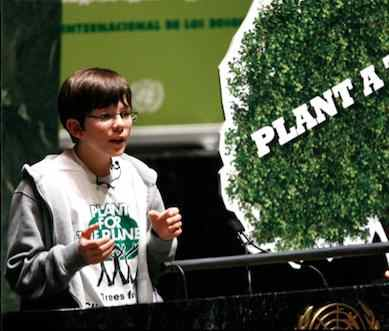 Boy initiates tree planting global campaign