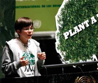 Boy initiates tree planting global campaign
