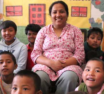 Nepal kids hero Pushpa Basnet -CNNHero photo