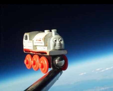 Train toy in space