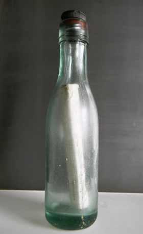 bottle with message old - Scottish Govt photo