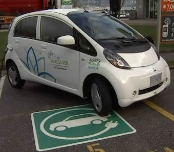 Electric car charging spot -CTV video snapshot