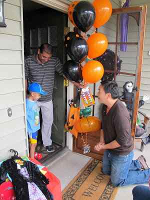 Halloween costume drive by boy with cancer