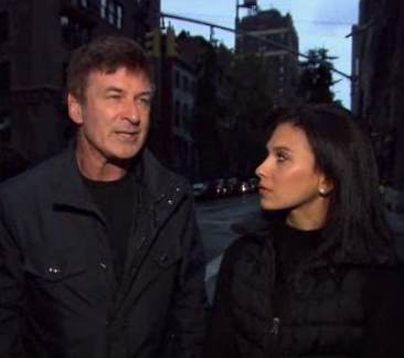 Alec Baldwin wife post-storm NBCvideo