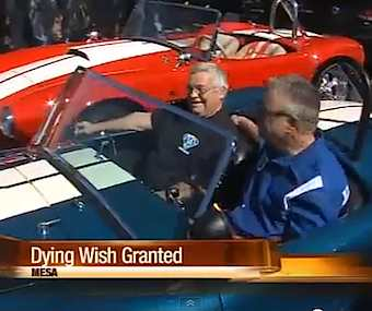 Cobra owner gives ride to dying man-VID