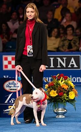 Dog Show honoree Vivian Peyton-therapy dog