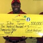 Lottery Winner with check - John Turner