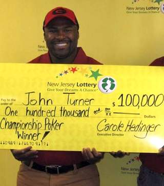 Lottery Winner with check - John Turner