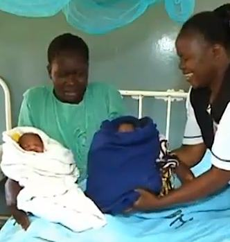 Mother with twins Kenya-TVvideo