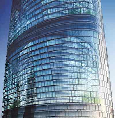 Shanghai Tower section-Gensler design firm