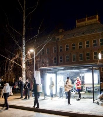 Swedish bus stop features light therapy