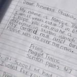 letter to the President - NJ girls Twitpic