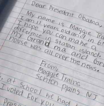 letter to the President - NJ girls Twitpic