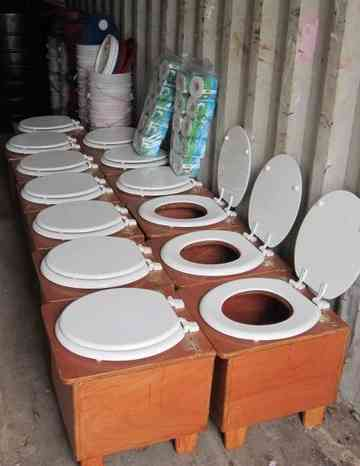 toilets, by Jean Lucho -Ecological Sanitation Project