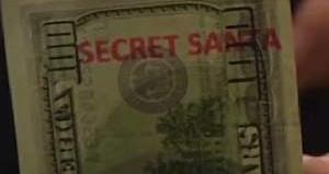 100 Dollar bill w/ Secret Santa stamp
