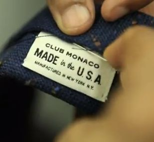 Made in the USA -Club Monaco brand tie