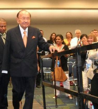 Senator Inouye at Asian Pacific meeting
