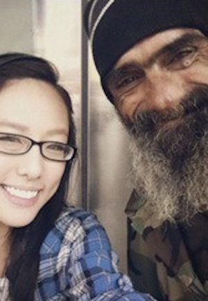homeless vet with shopgirl-imgur