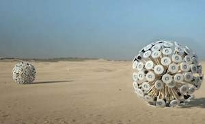 landmine wind powered