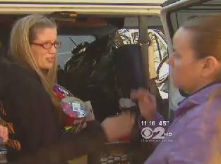 supplies after storm from NY woman