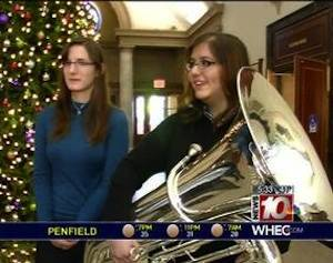 tuba given to student-WHEC